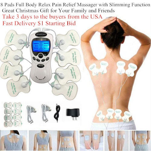 Great Christmas Gift for Your Family and Friends!!! 8 Electrode Pads !!! Full Body Massage Shaper Slimming Tens Acupuncture Digital Therapy Massager