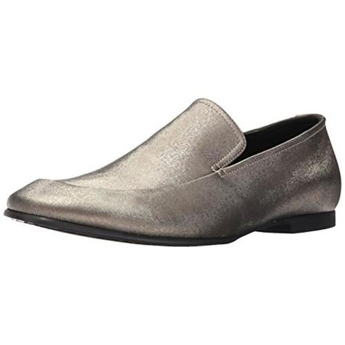 Calvin Klein Mens Nicco Embossed Leather Loafers
