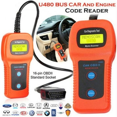 Free Shipping!!! High Quality U480 Scanner Car Fault Code Reader CAN BUS OBD2 EO