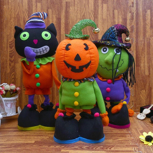 Halloween Witch Cartoon Plush Stuffed Doll Toy Home Decor Kid Birthday Gifts