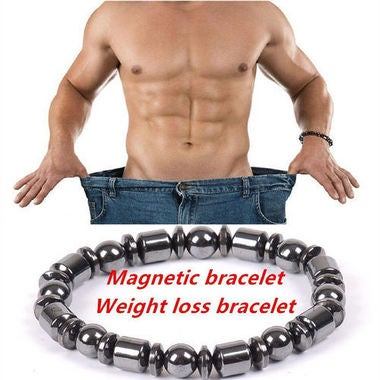 Biomagnetic Multi-shaped Black Stone Magnetic Health Weight Loss Bracelet