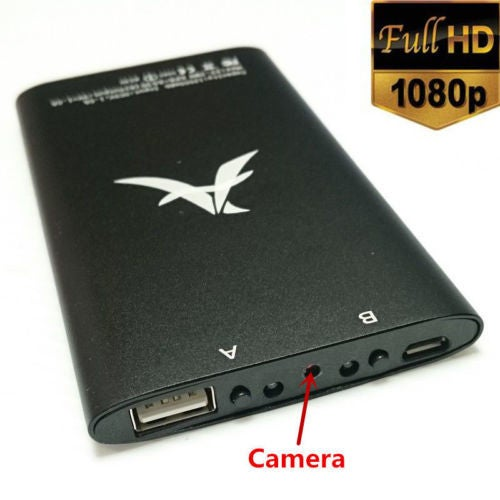 1080P Power Bank External Battery HD Spy Hidden Camera DVR Video Recorder Motion Detect 3000mAh