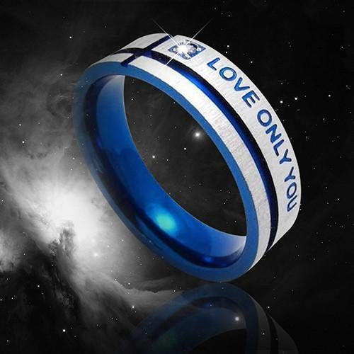 """""""Love Only You""""   Titanium Steel Ring Band"""
