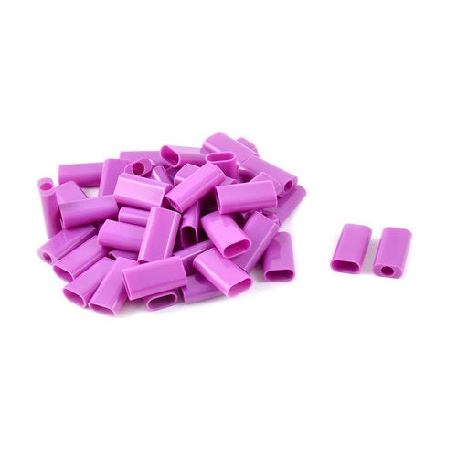 50pcs Computer Home Plastic DIY Connector USB Jack Plug Shell Purple for iPhone5