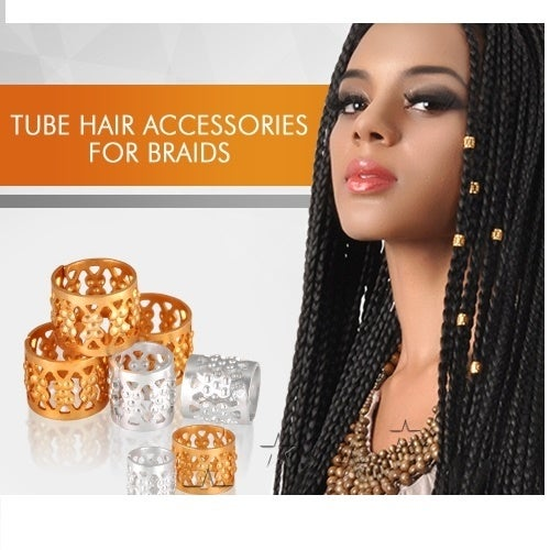 10pc Hair Bead in gold or Silver color