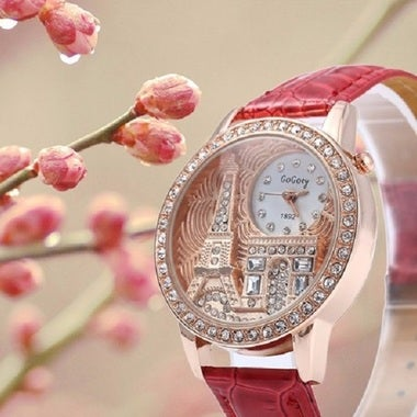Gogoey Luxury Crystal The Eiffel Tower Watch