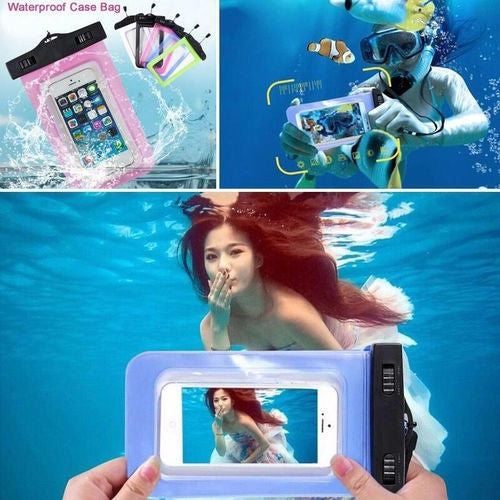 Waterproof Bag Underwater Pouch Dry Case Cover For iPhone Samsung LG Sony Huawei Xiaomi Cell Phone Touchscreen