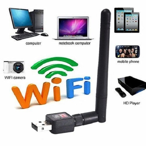 Mini USB Wireless Network Card, Wireless AP External Antenna, WIFI Receiver Transmitter