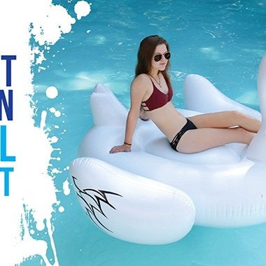 Giant Inflatable Swan Pool Float Lounger 75 Inch Big