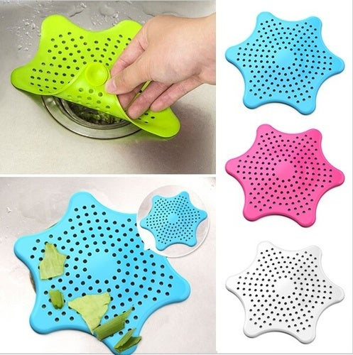 New Cute Home Living Floor Drain Hair Stopper Bath Catcher Sink Strainer Sewer Filter Shower Cover