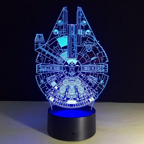 3D LED Night Light Different Cartoon Characters Three-dimensional Mood LED Table Lamp Atmosphere Acrylic Home