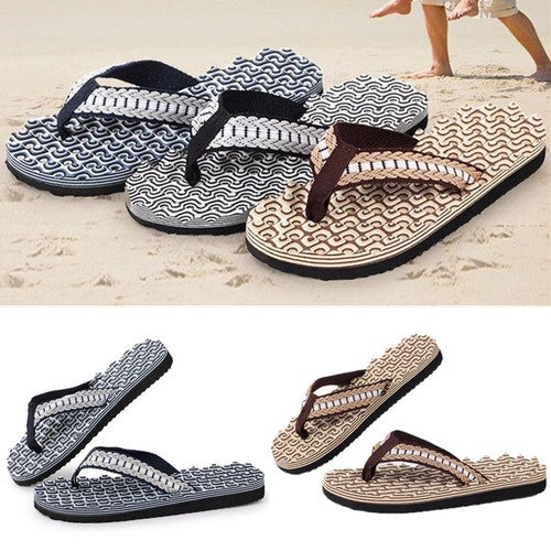 712b0221ecaf Men Slippers Summer Slippers Flip Flops Beach Massag...