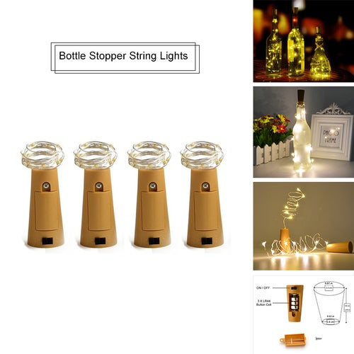 15LED lamp Cork Shaped Bottle Stopper Light Glass Wine Colorful LED String Lights For Bar Xmas Party Wedding Home Decor