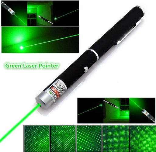 Green Laser Pointer 532nm 5mW 303 Laser Pen Powerful Lazer pointer With Starry Head Burning Match Adjustable Length