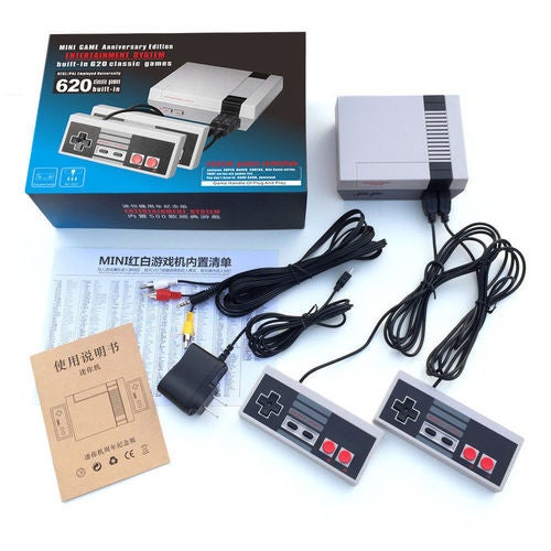 Mini Retro Classic NES Console TV Game 620 Built-in Games+2 Handle Controllers