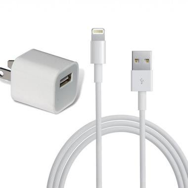 Lighting Cable & Wall Charger for iPhones and iPads