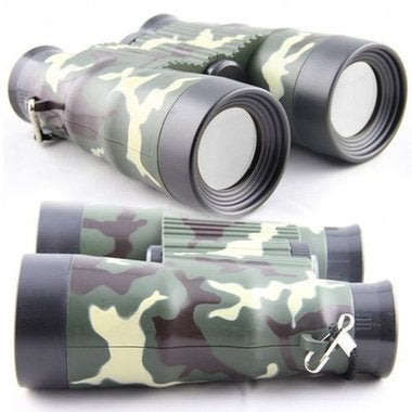 Adjustable Compass Binoculars For Kids Camouflage Educational Outdoor Toys Green