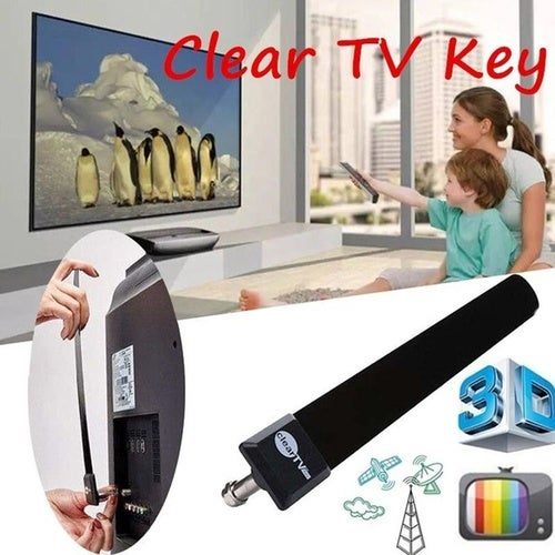 Home US EU 1080p Indoor Antenna Cable Clear TV Key HDTV FREE TV Digital