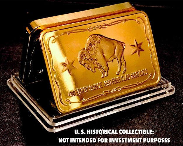 1 Troy Ounce .999  Gold Clad *** The American Buffalo & The Great Seal Of The United States American Eagle*** Limited Edition Art Bar