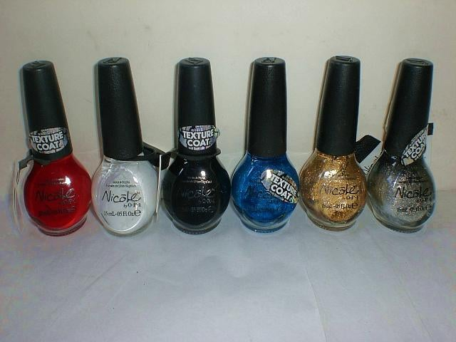 Nicole by OPI Texture Coat Nail Polish Set 6 Different | Tophatter