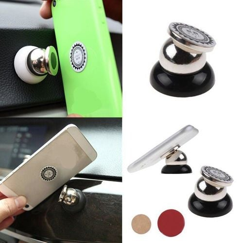 USA 360 Degree Rotating Mobile Phone In Car Magnetic Mount Holder Stand