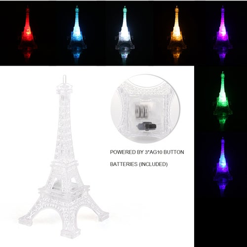 Home creative design colorful tower lights color change romantic Eiffel Tower night light bedroom luminous props