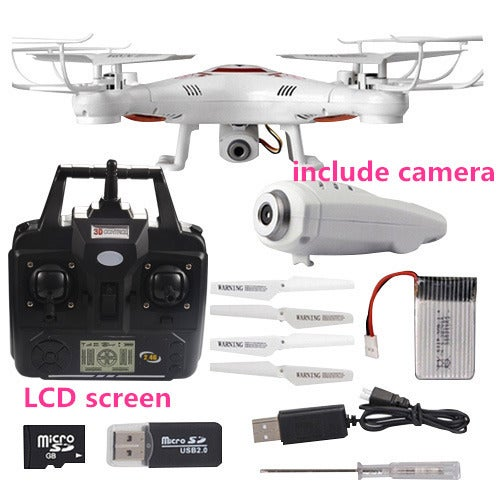 RC Helicopter Drone with Camera HD Remote Control 4 CH 6 Axis Gyro
