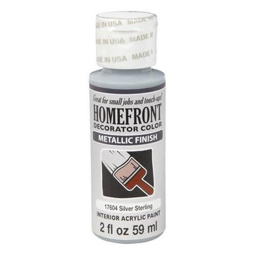 Homefront 17604 2 oz Silver Sterling Metallic Decorator Color Acrylic Paint Pack Of 3