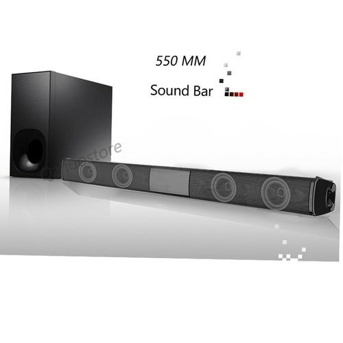 Home Theater Systems Wireless Bluetooth Soundbar Speaker TV Home Theater Soundbar Subwoofer black