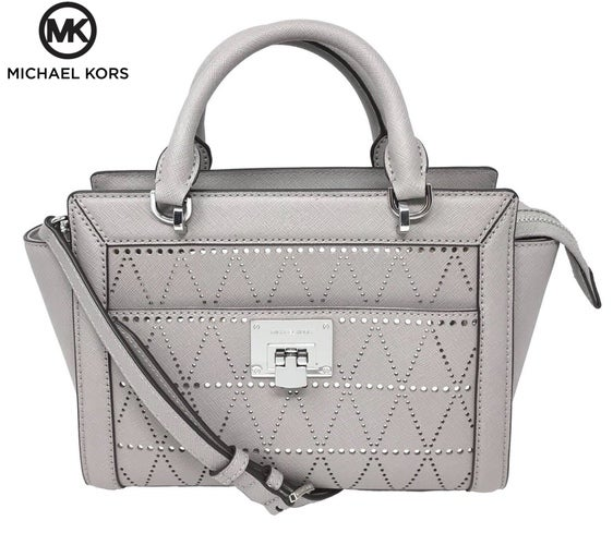 ca549414b210 Michael Kors Tina Saffiano Leather Small Satchel Mes... | Tophatter