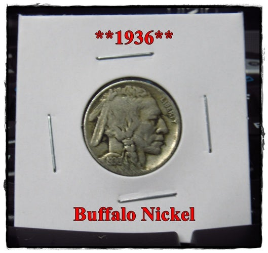 "★★1936★★ 82 Years Old ★★ Buffalo Nickel  - Rare and Authentic - Full ""Blurry"" Date"