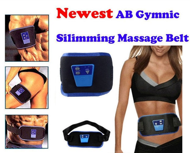 Lucky Year 2018! AB Gymnic Electronic Body Muscle Arm leg Waist Abdominal Massage Exercise Toning Belt Slim Fit