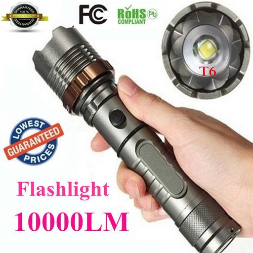 AloneFire E17 XM-L T6 3800LM Aluminum Waterproof Zoomable CREE LED Flashlight Torch light