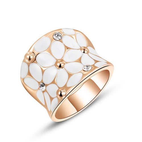 Roxi Fashion Unique Cute High Quality Zircon Crystal Rhinestone Gold Plated Finger Ring Jewelry for Women Girls Gift