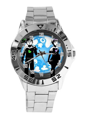 Homestuck Print Custom Casual Stainless Steel Band Dress Wrist Watch
