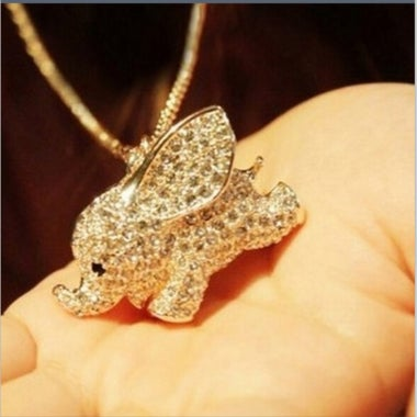 Fashion Crystal Elephant Necklace CN387