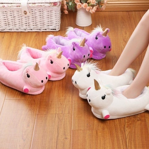 Cute Cartoon Unicorn Cotton Slippers Comfortable Indoor Home Shoes Plush Toys Slippers Soft Keep Warm Fashion Shoe