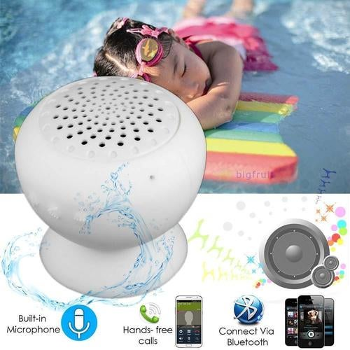 Mini Waterproof Bluetooth Speaker Wireless MIC Suction Shower Handsfree