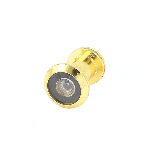 Home Security Gold Tone Metal 180 Degree Viewing Angle Door View Peephole