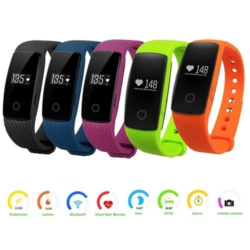 New Bluetooth Smart Watch Bracelet Fitness Heart Rate Monitor for Android IOS ID107