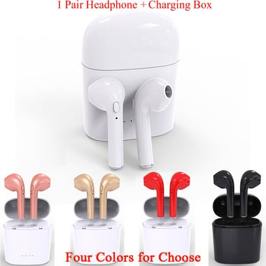 Wireless Bluetooth Headset Air Earphones Sport Earbuds with Charging Box
