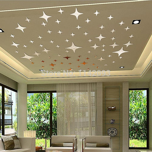 56pcs Star 3d Wall Stickers Diy Home Decor Tv Wall S Tophatter