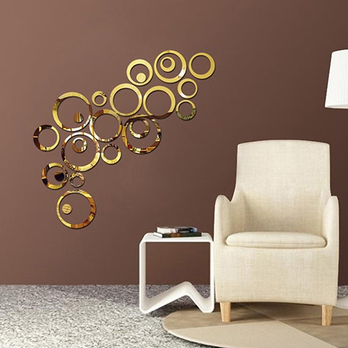 Home Accessories DIY Creative Decoration 3D Mirror Circle Wall Stickers