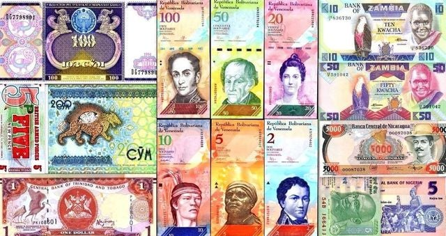 100 Different World Foreign Banknotes,Currency, Uncirculated From Estate Sale. You receive One Note Pictured