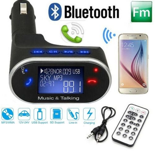 LCD Wireless Bluetooth Car Kit MP3 Player FM Transmitter Modulator Remote USB SD