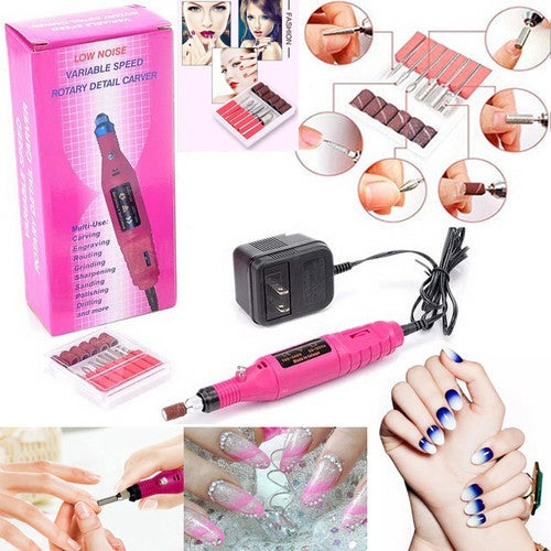 Great Christmas Gift for Your Family and Friends!!! Nail File Drill Kit Electric Manicure Pedicure Acrylic Portable Salon Machine