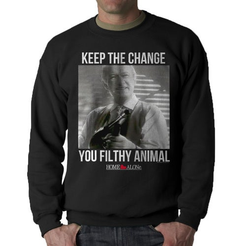 Home Alone Keep The Change Filthy Animal Men's Black Sweatshirt
