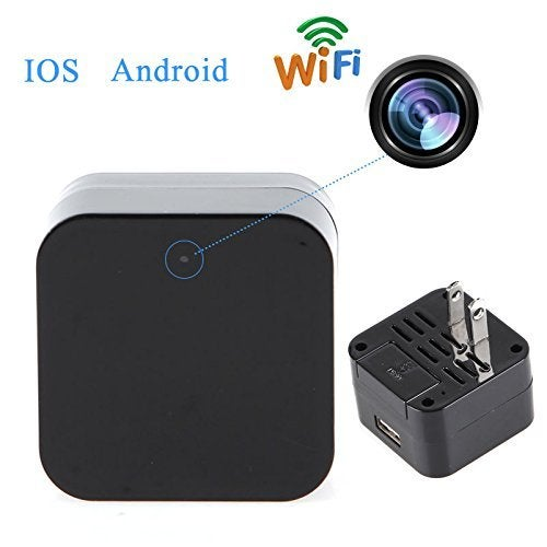 New 1080P WIFI IP Mini Spy Charger Camera Real Wall AC Plug Charger NO hole Wireless Security Nanny Spy Camera Adapter