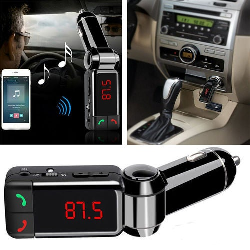 Car Kit MP3 Music Player Wireless Bluetooth FM Transmitter Radio USB Charger
