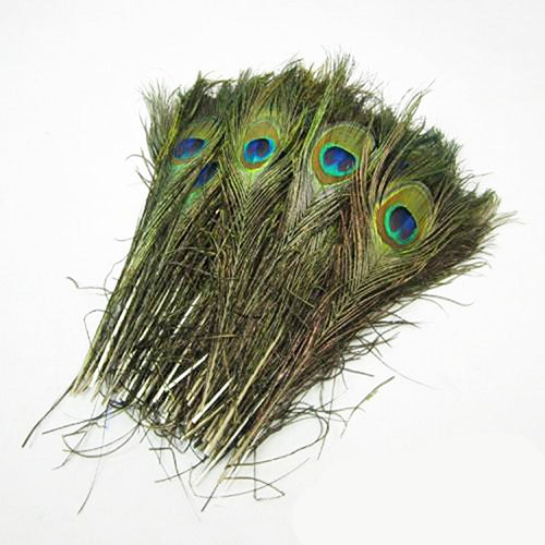 30Pcs Natural Peacock Feathers DIY Handmade Tool Home Party Decorations